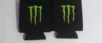 Lot Of 2 Monster Energy Drink Logo Claw Koozie Can Cooler