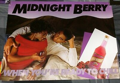 Cool Breeze Wine / 1980's Midnight Berry When Your Ready To Chill Poster