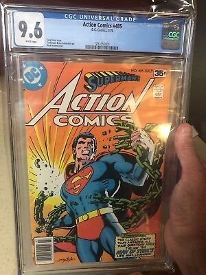 CGC 9.6 Action Comics # 485 - White Pages - Adams Cover