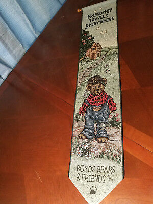 Boyds Bears Bailey~Friendship Travels Everywhere~Tapestry Wall Hanging Bellpull