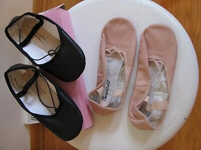 THEATRICALS Freestyle DANSKIN Lot Pink Black Ballet Slippers Dance Shoes Size 1
