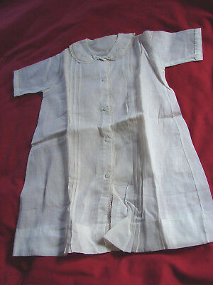 Vintage 20s 30s Childs Infant robe gown NOS Buttons Embroidery  LACE