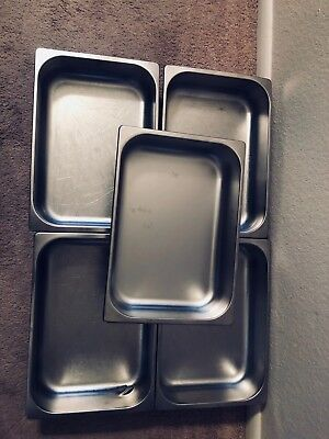Pre Owned: 5 Stainless Steel 5.5 Liter Gelato Pans, good condition.