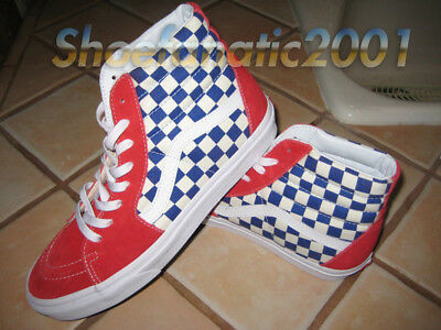 88031646f49 VANS BMX CHECKERBOARD Sk8 Hi Shoes Trainers in Blue Red in UK Size 6 ...