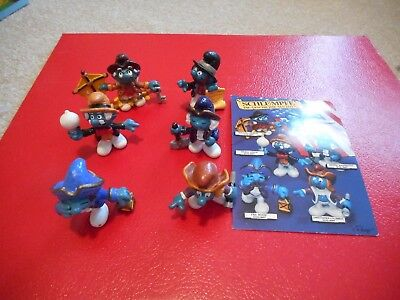 Smurfs Rare set of Historical Smurfs with postcard Schleich Schlumpfs Peyo