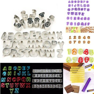 Alphabet Letter Number Cookie Cutter Mould Biscuit Cake Pastry Decorating Mold