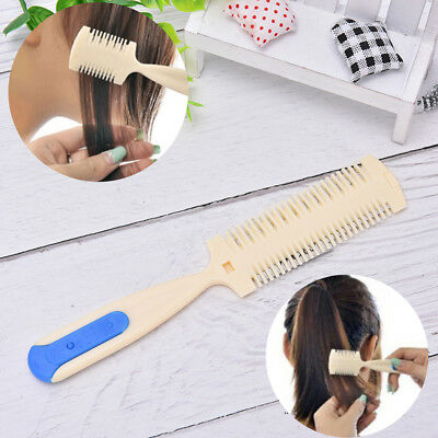 Hair Cutting Trimmer Razor Blade Comb For Thinning Bangs Long Beauty Hair Cut BD