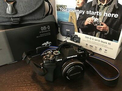 Olympus OM-D E-M10 Mark II 17.2MP Digital Camera - Kit with lens and carry case