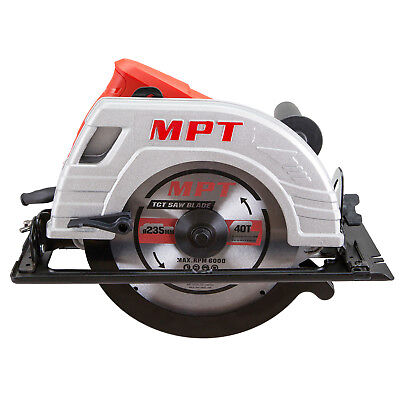 "MPT Electric Circular Saw 235mm 91/4"" Commercial 2200 Watt with Blade and Guide"