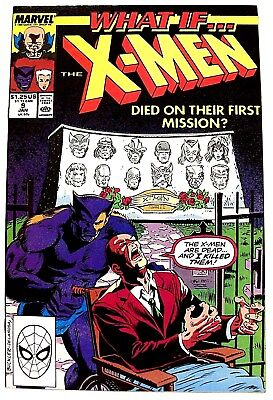 """WHAT IF...?"" Issue # 9 (Jan, 1990) (Marvel Comics) f. THE X-MEN"