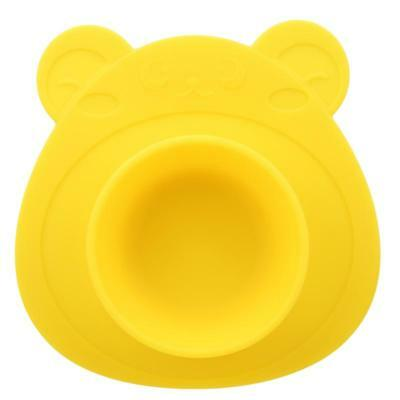 Silicone Mat Table Baby Kids One-piece Food Dish Tray Placemat Plate Bowl BS