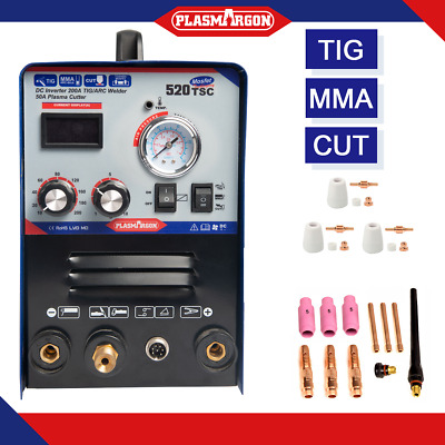 520TSC Portable Multifunction MMA/TIG/CUT Welding Machine 110V/220V +CONSUMABLES