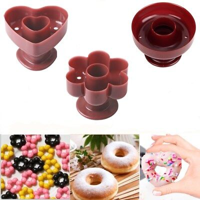Donut Cutter Mold Pastry Pudding Cake Bread Maker Mold Baking Decor Tool 3 Shape