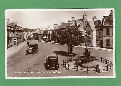 Main Street Fountain East Linton Motor Car RP pc unused Valentines Ref H677