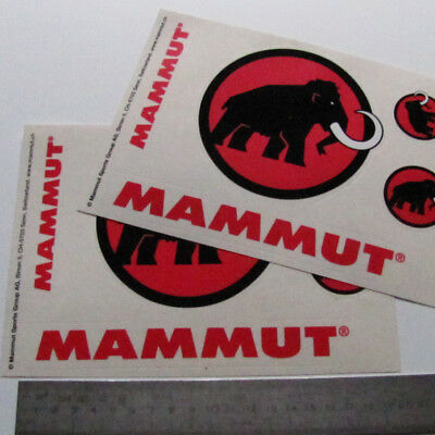 8x MAMMUT STICKERS DECALS (2 sets) EXTREME NO JACKET CAP PANTS TROUSERS BEANIE