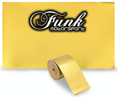 Funk Motorsport Cool Gold Reflective Heat tape 50mm x 2.5m Race car Performance
