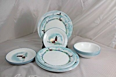 Corelle Outer Banks Lighthouse Dinnerware Service For Four 4
