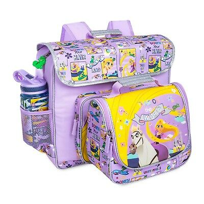 Disney Store Rapunzel Tangled Backpack Lunch Tote Box Book Bag