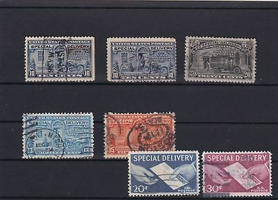United States  Special Delivery  Stamps 1922 - 25 & 1944 - 51  Ref 5284