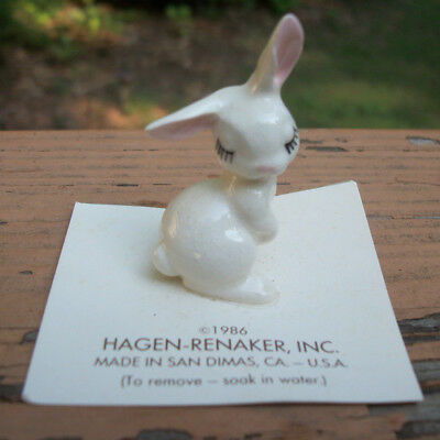 Retired Hagen-Renaker Rabbit Bunny Figurine Miniature 1986