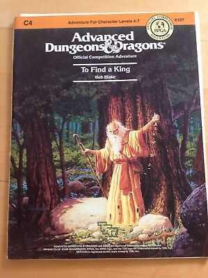 Ad&d Dungeons and Dragons Module C4 - to find a King