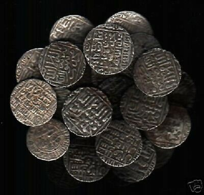 INDIA DELHI SULTAN 15th CENTURY BIG FLAN SILVER COIN INDIAN CURRENCY MONEY