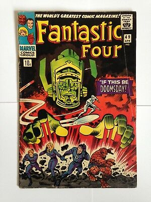 Fantastic Four,issue#49 Key Issue !!First full appearance of Galactus !