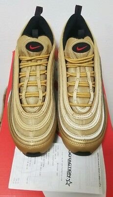 NIKE AIR MAX 97 METALLIC GOLD 2004 SIZE 11 100% AUTHENTIC