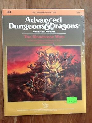 Ad&d Dungeons and Dragons Module H3 - The Bloodstone Wars NEU !!! Eingepackt !!!