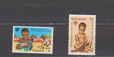 Botswana 1979 Year Of The Child Complete Set Mint Never Hinged