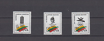 Lithuania 1992 Olympic Games Albertville Barcelona Set Mint Never Hinged