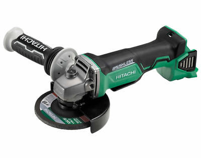 "Hitachi G18DBAL(H5) 18V Li-Ion Brushless Cordless Slide 5"" (125mm) Angle Grinder"