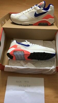 best loved 9797e 31f22 Nike Air Max 180 Ultramarine UK 8 Mens DEADSTOCK
