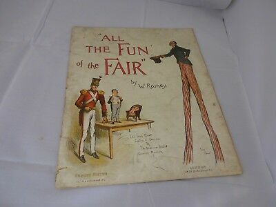 All the Fun of the The Fair. RAINEY H. William Ernest Nister , Circus 1888 RARE