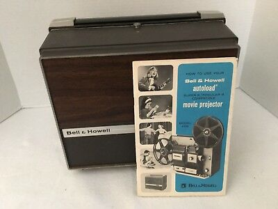 Vintage Bell & Howell 8mm Super 8 Autoload Model 456A Silent Movie Projector EX