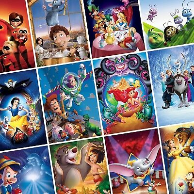 CHILDREN'S - FAMILY ANIMATION Classic Movie Posters PHOTO Print POSTER Disney