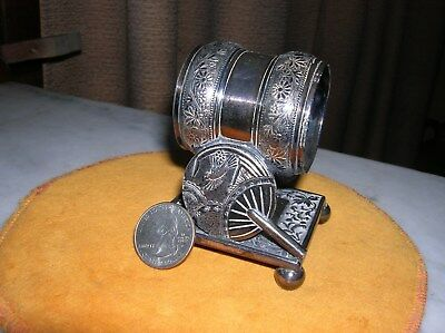 Silver Plated Victorian Napkin Ring Fans Butterfly Rogers Mark  Gc  19.95