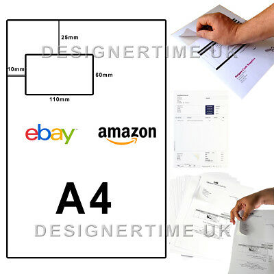 S11 S14 Ebay Amazon Integrated Self Adhesive A4 Post Pack Address Labels Cheap