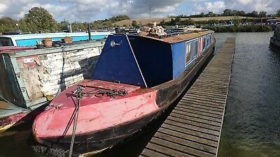 """narrow boat for sale project canal boat 57"""" Lister air cooled diesel engine"""