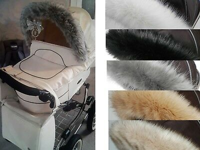 Silver Cross wayfarer pioneer surf pop,reflex pushchair pram  Hood fur trim