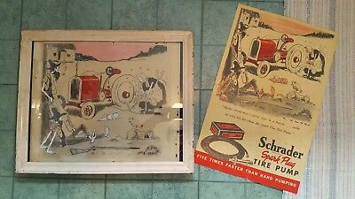 Original P. Webb Advertising Art And Ad For Schrader Spark Plugs
