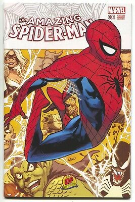 Amazing Spider-Man 1 4th Series Marvel 2015 Greg Land Dynamic Forces DF Variant