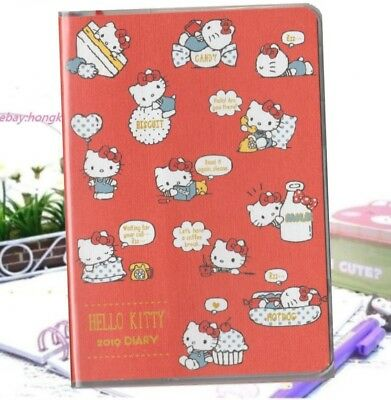 2019 Hello Kitty Cat Schedule Book Weekly Monthly Planner Organizer Date Diary