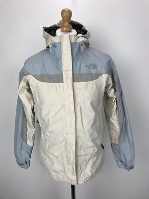 THE NORTH FACE Hooded HYVENT Jacket Coat XL Girls / Small Womens White
