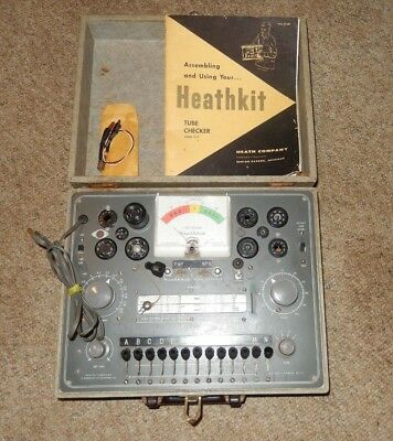 Vintage Heathkit TC-2 Tube Tester with Manual - Working Condition