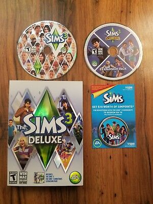 Sims 3: Deluxe Ambitions Expansion Pack, $10 Simpoints Bonus Town (Windows/Mac)