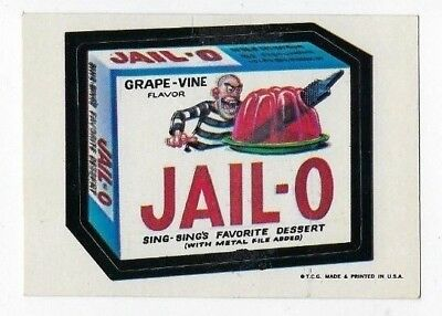 1973 Topps Wacky Packages 1st Series 1 JAIL-O DESSERT wb nm-