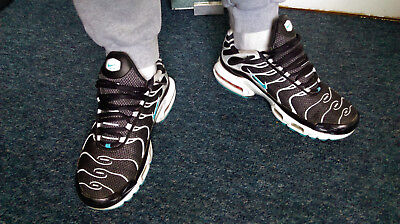 new arrival a3b90 c809e MENS LADS NIKE Air Max TN trainers shoes black/blue/white size 9 10 worn  used
