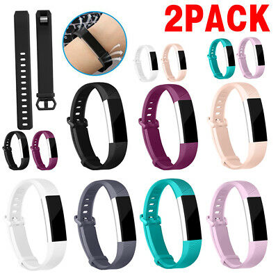 2x NEW Replacement Silicone Wrist Wristband Band Strap For Fitbit Alta HR BL