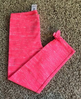 Nwt Old Navy Adorable Neon Pink Space Dye Leggings Girls Pants M 8 Cute Gift!